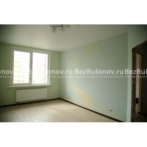 Зелёный цвет - Экодекор 106. Голубой цвет - Экодекор 104. Бежевый цвет - Экодекор 110