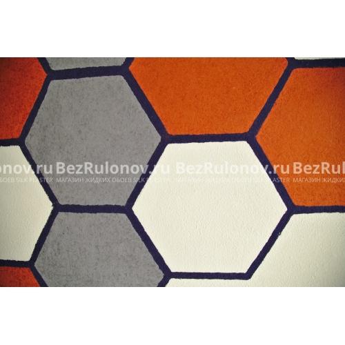 Оранжевый цвет - Арт дизайн 241. Серый цвет - Арт дизайн 235. Синие полосы - Арт дизайн 282. Белый цвет - Оптима 051