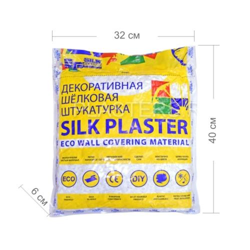 Жидкие обои Silk Plaster упаковка - размеры