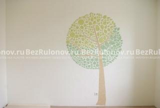 Ствол и ветки дерева - Виктория 704. Белый фон - Виктория 701. Светлые листья - Виктория 715. Тёмные листья - Виктория 716