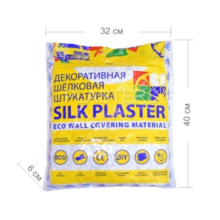 Жидкие обои Silk Plaster, коллекция рельеф, упаковка - размеры